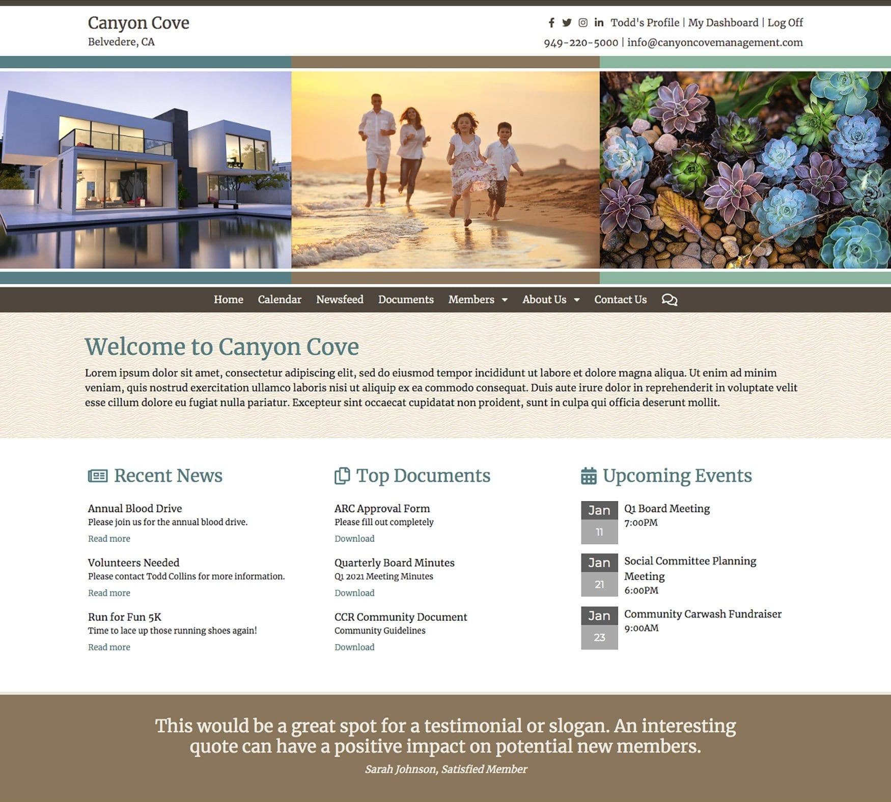 website for associations