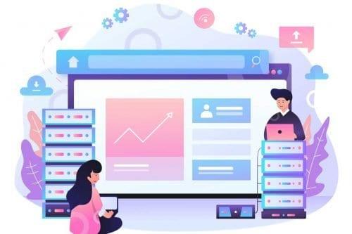 Web hosting association software