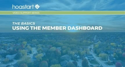 Using the Member Dashboard